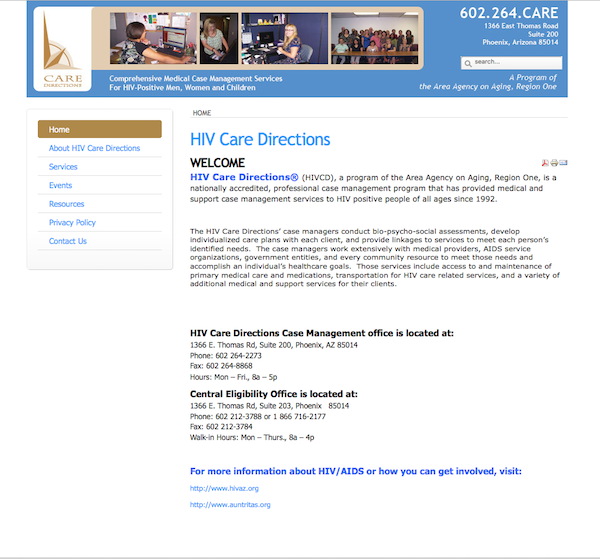 Care Directions website
