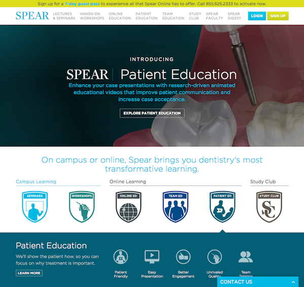 Spear Education website