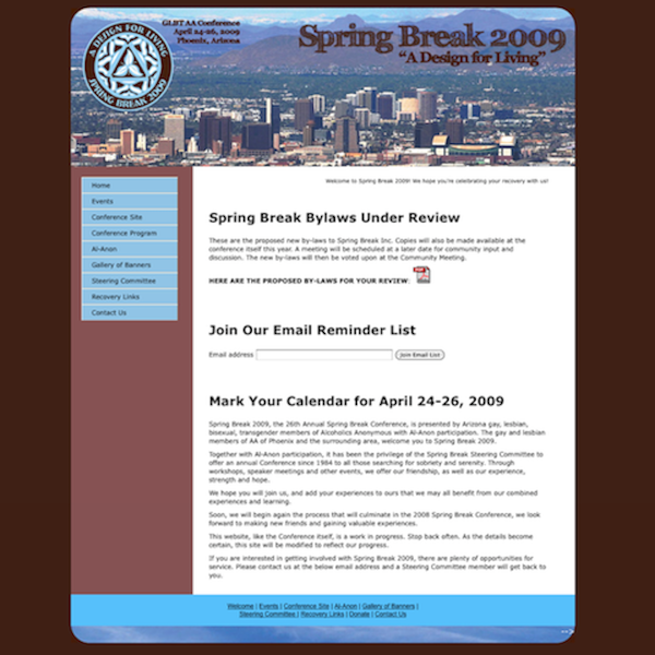 Spring Break website
